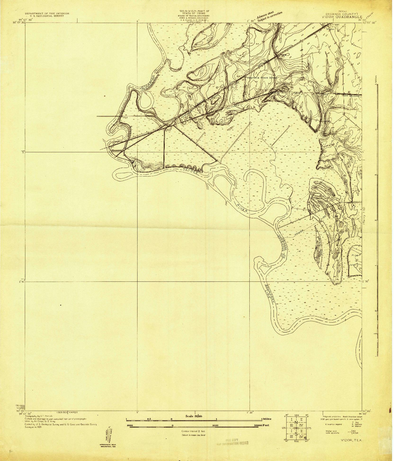 USGS 1:24000-SCALE QUADRANGLE FOR VIDOR, TX 1926