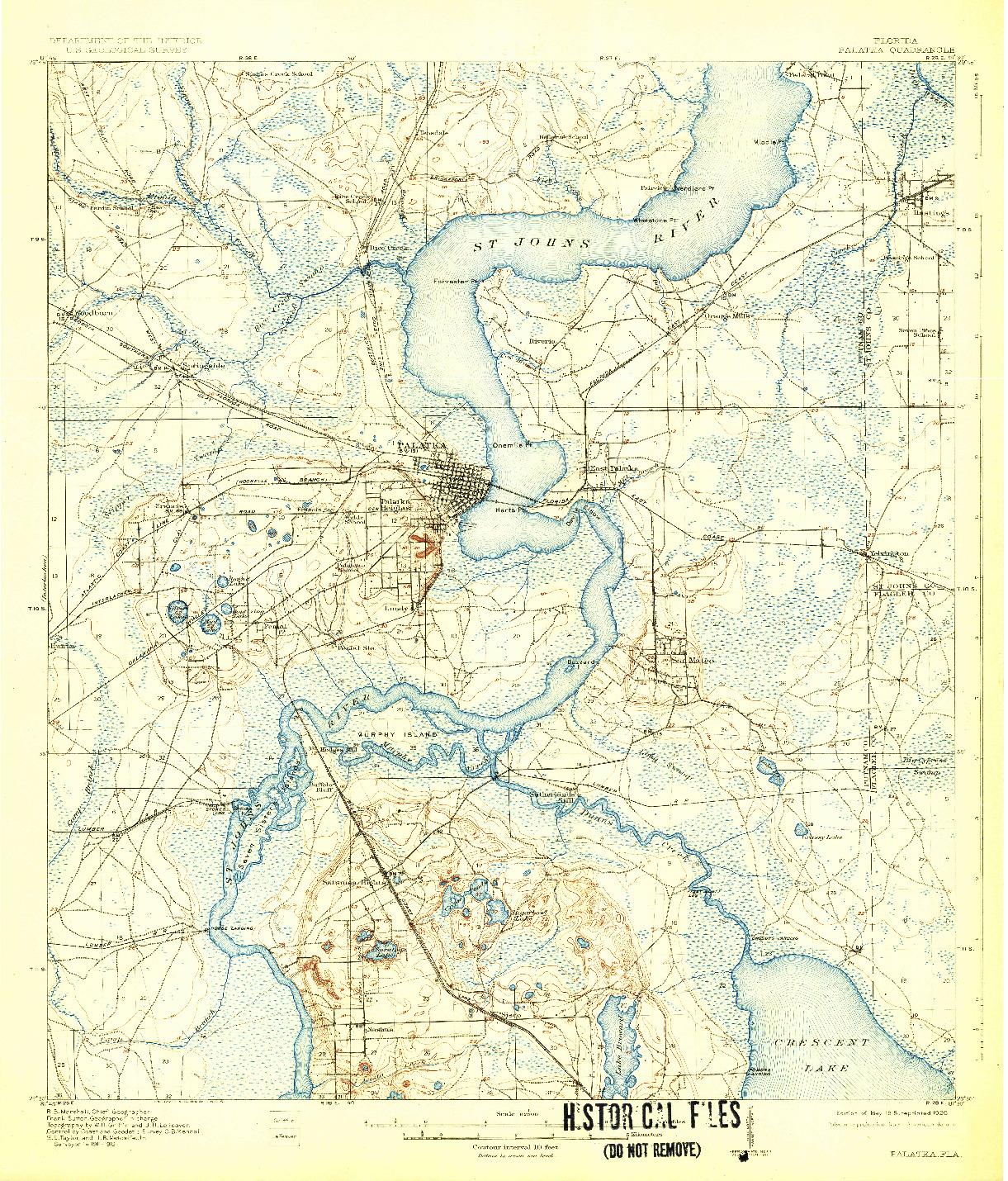 USGS 1:62500-SCALE QUADRANGLE FOR PALATKA, FL 1915