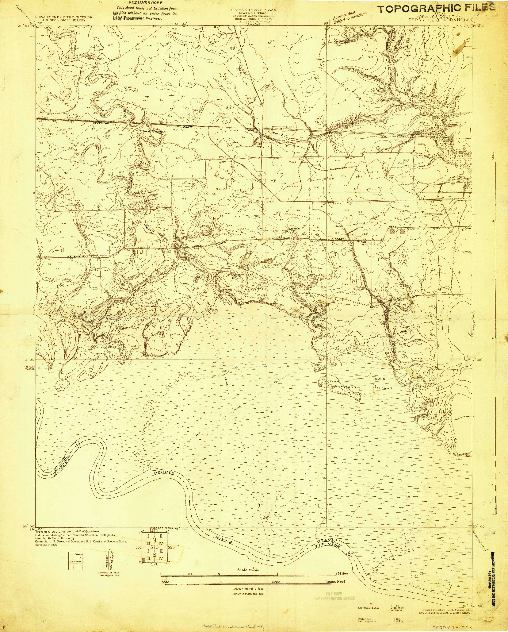 USGS 1:24000-SCALE QUADRANGLE FOR TERRY, TX 1926