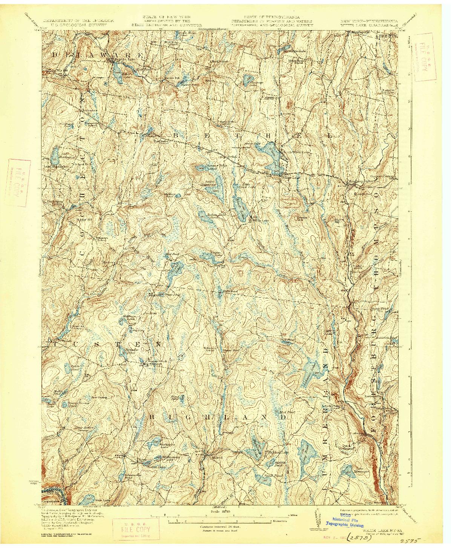 USGS 1:62500-SCALE QUADRANGLE FOR WHITE LAKE, NY 1922