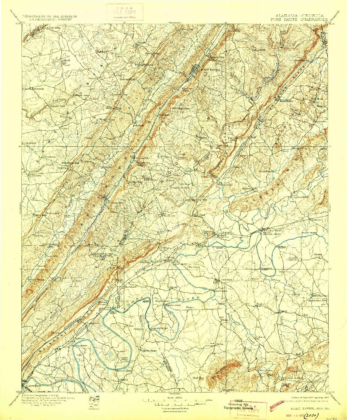 USGS 1:125000-SCALE QUADRANGLE FOR FORT PAYNE, AL 1900