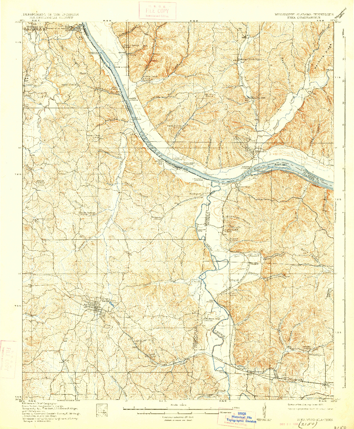 USGS 1:62500-SCALE QUADRANGLE FOR IUKA, MS 1914