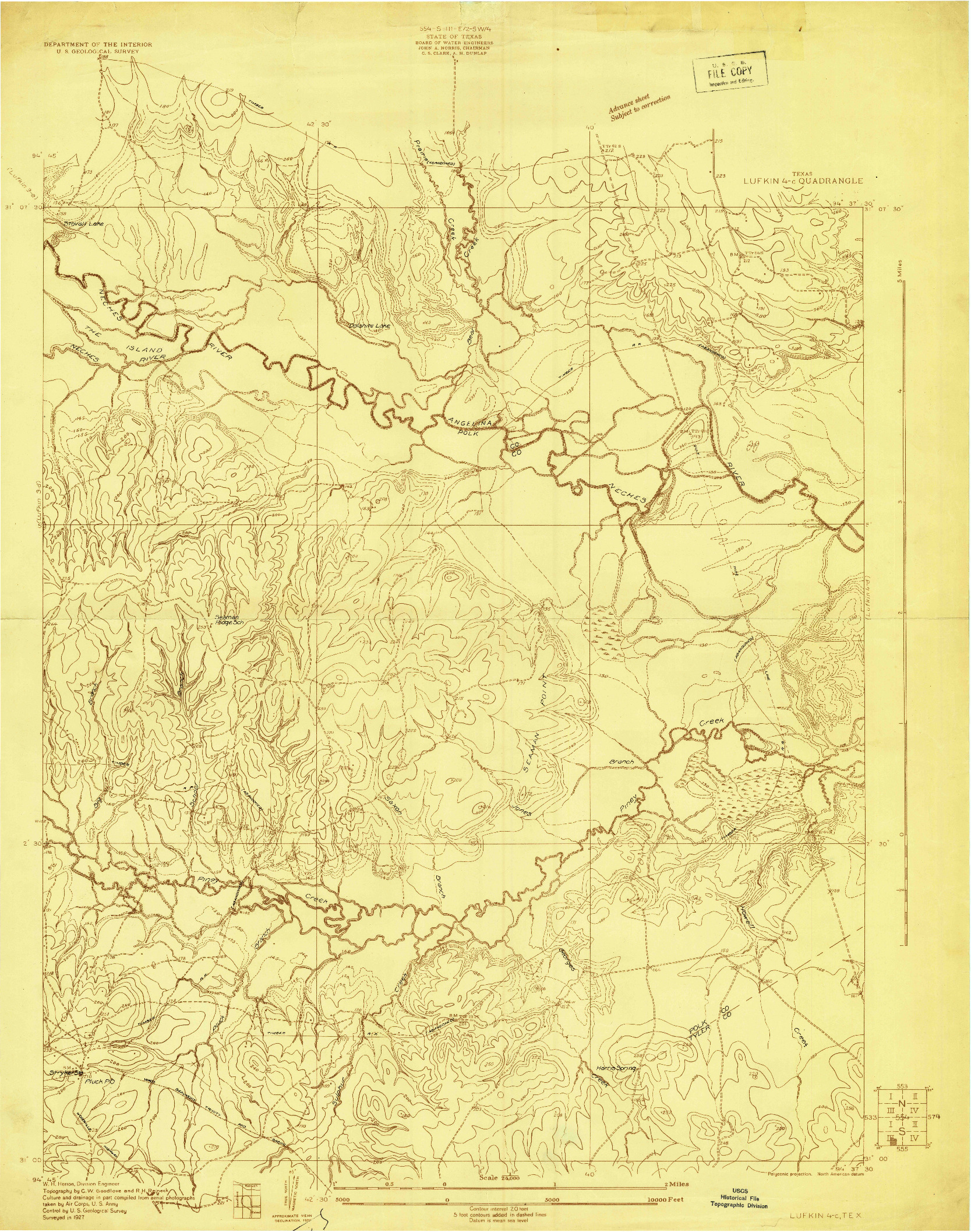 USGS 1:24000-SCALE QUADRANGLE FOR LUFKIN 4-C, TX 1927