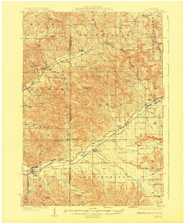 USGS 1:62500-SCALE QUADRANGLE FOR BLAIR, WI 1927