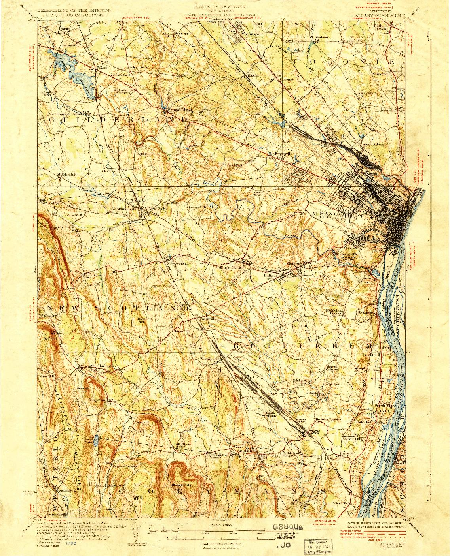 USGS 1:62500-SCALE QUADRANGLE FOR ALBANY, NY 1927