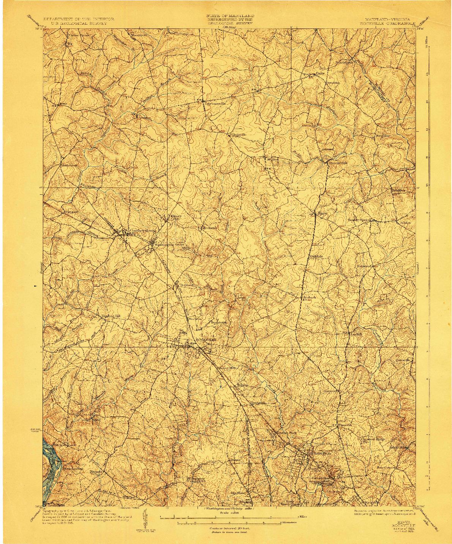 USGS 1:62500-SCALE QUADRANGLE FOR ROCKVILLE, MD 1923