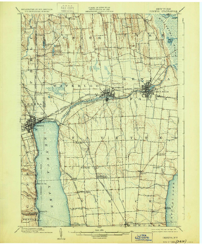 USGS 1:62500-SCALE QUADRANGLE FOR GENEVA, NY 1902