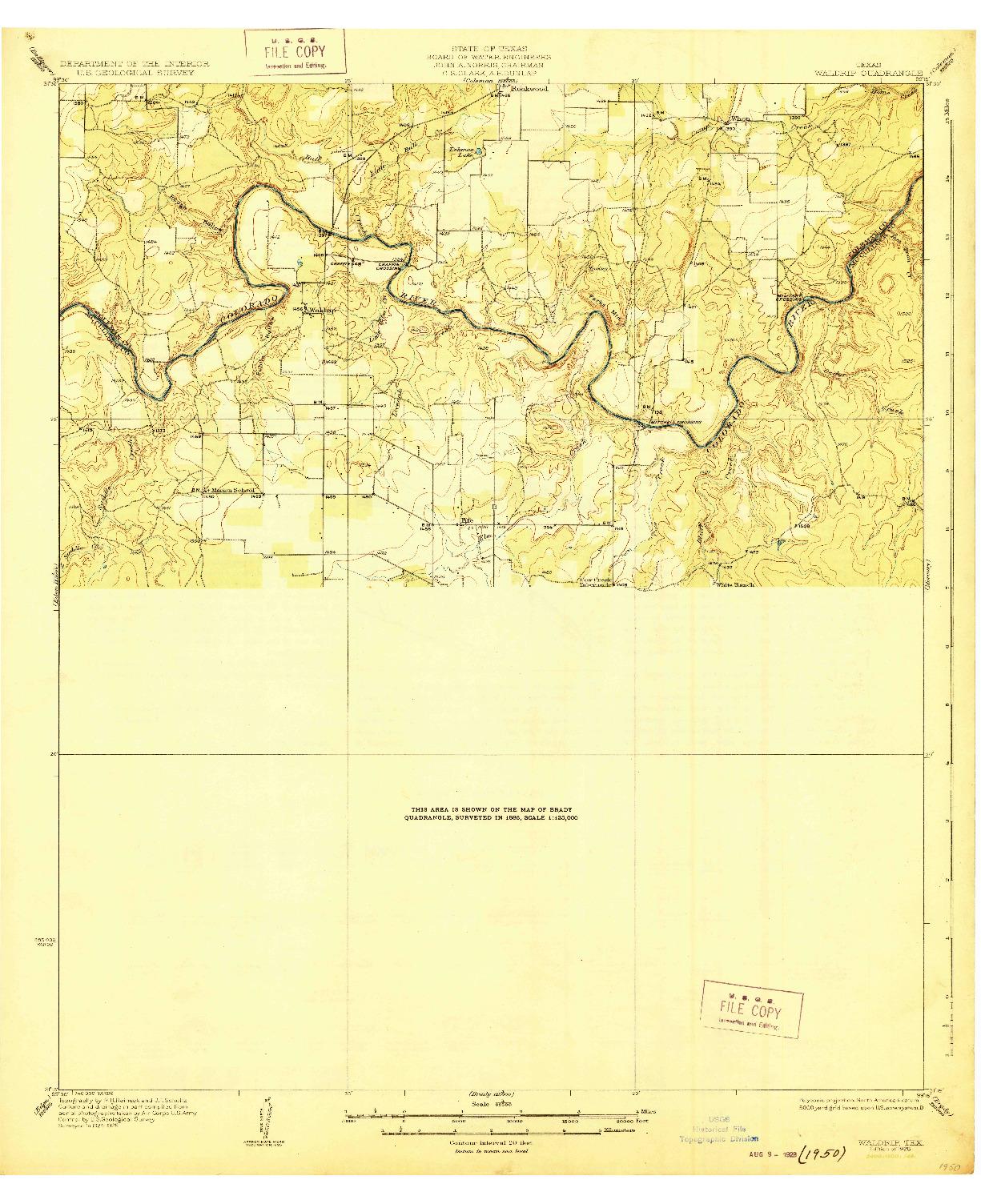USGS 1:62500-SCALE QUADRANGLE FOR WALDRIP, TX 1928