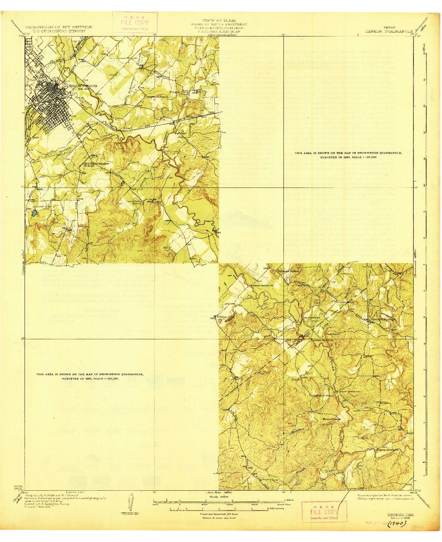 USGS 1:62500-SCALE QUADRANGLE FOR ZEPHYR, TX 1928