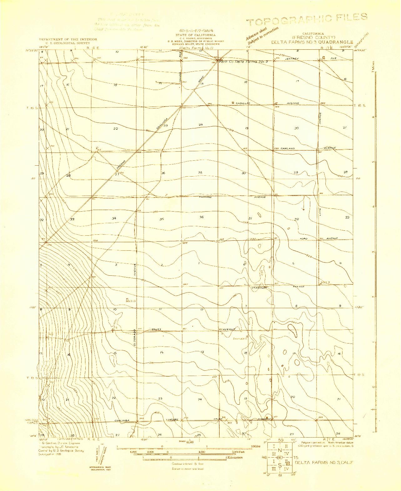 USGS 1:31680-SCALE QUADRANGLE FOR DELTA FARMS NO 3, CA 1928