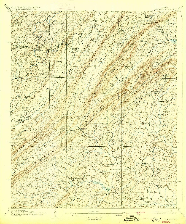 USGS 1:62500-SCALE QUADRANGLE FOR VANDIVER, AL 1908