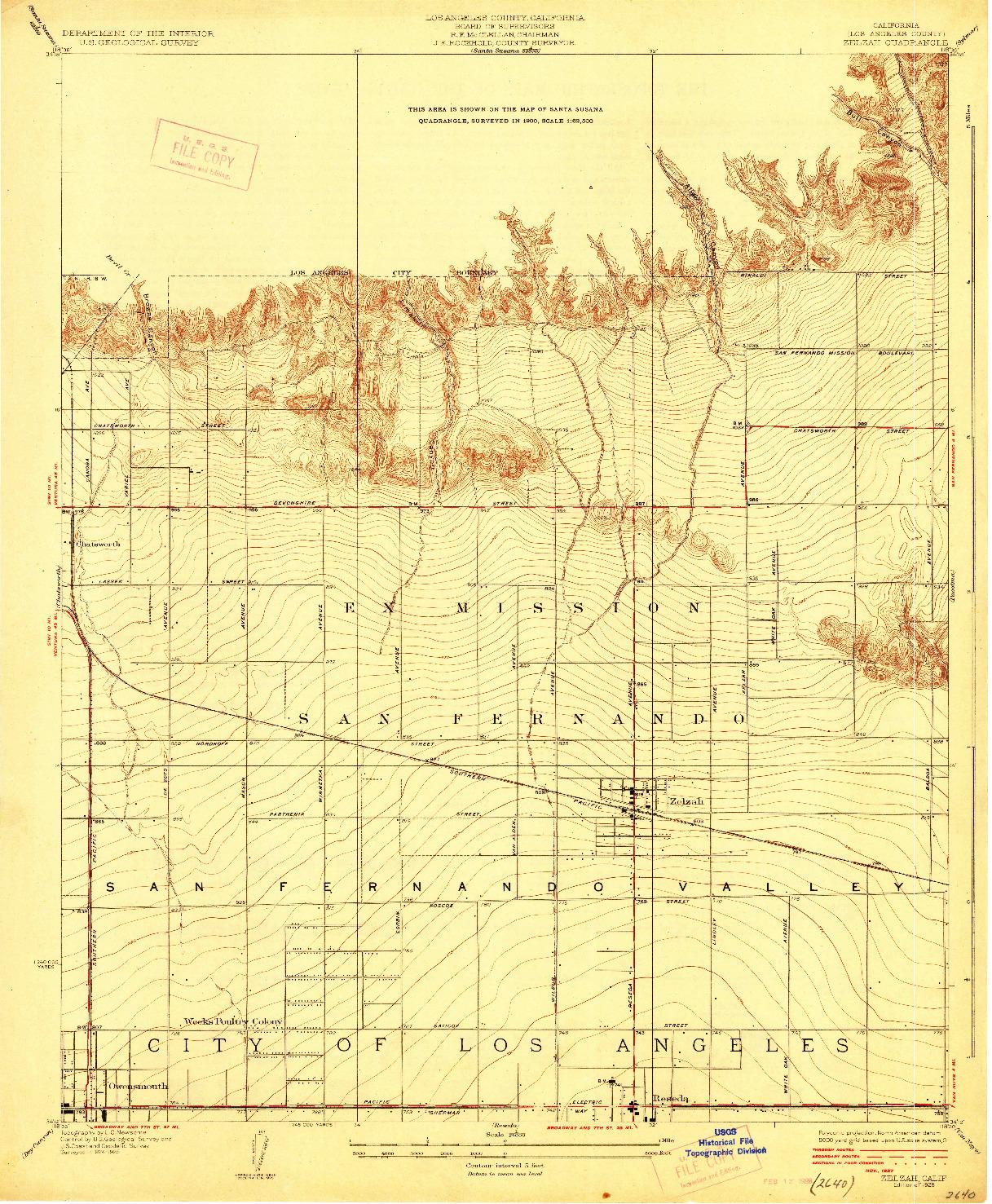 USGS 1:24000-SCALE QUADRANGLE FOR ZELZAH, CA 1928