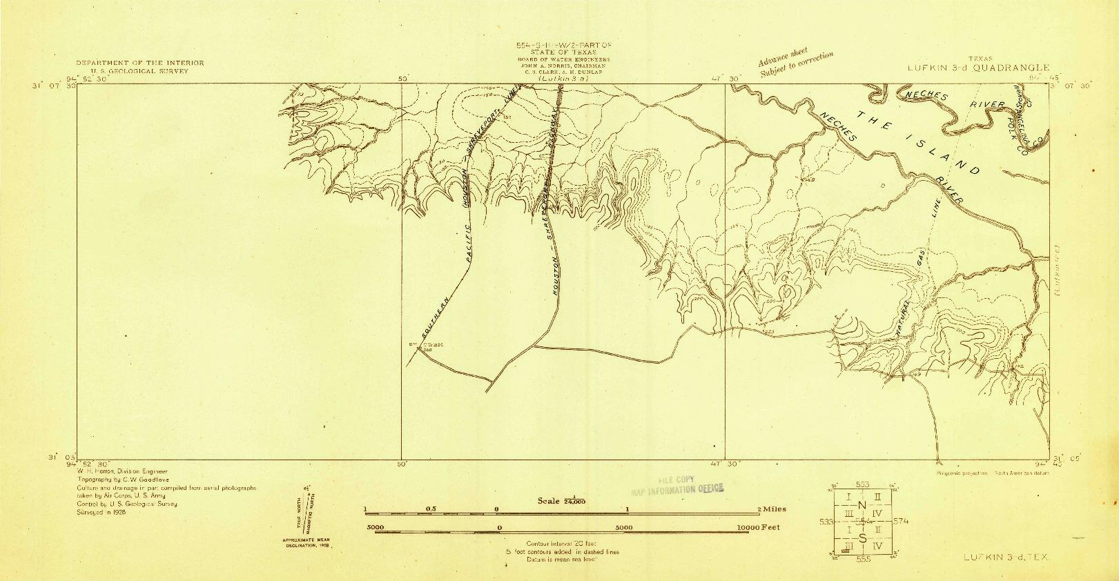USGS 1:24000-SCALE QUADRANGLE FOR LUFKIN 3-D, TX 1928