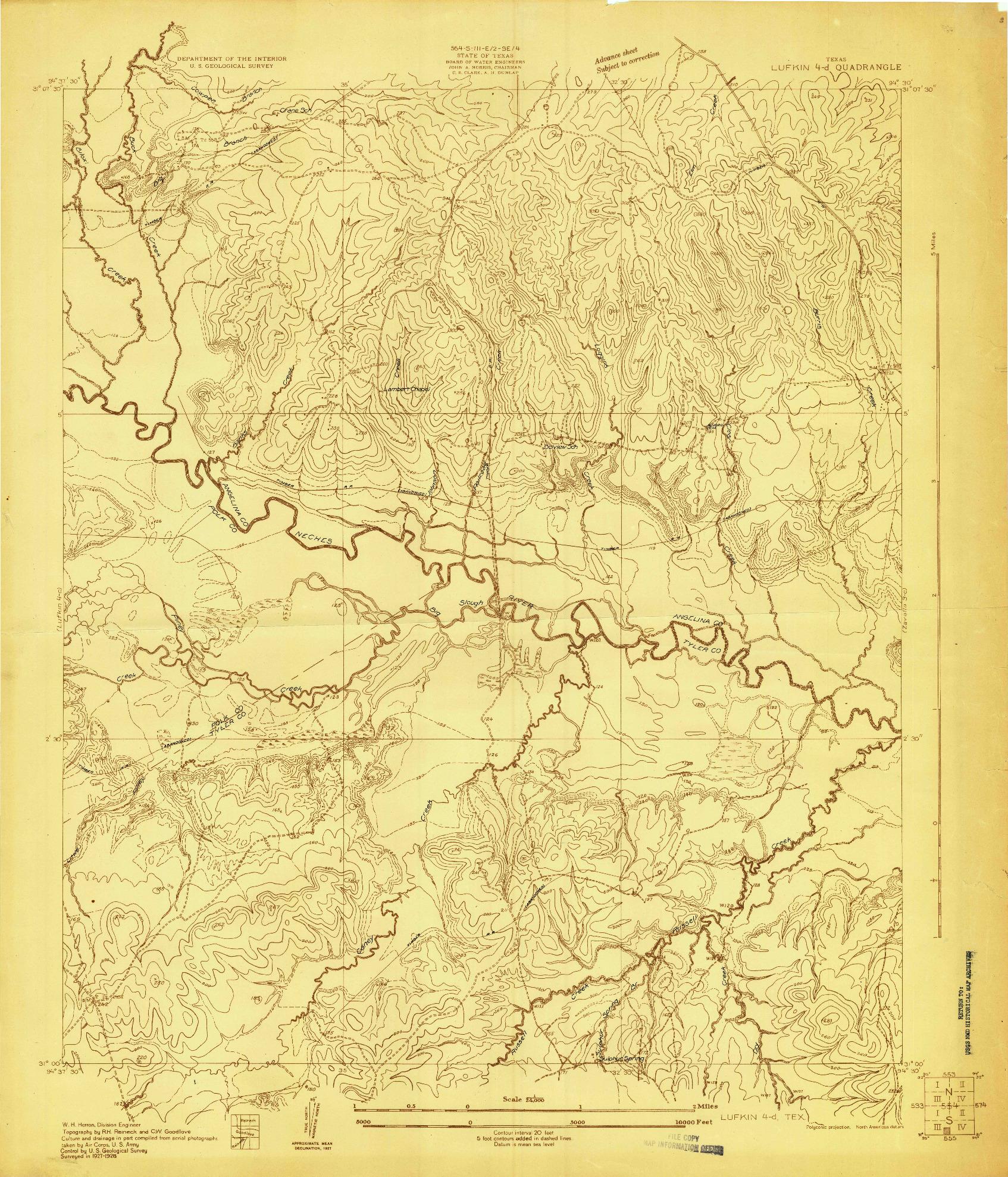 USGS 1:24000-SCALE QUADRANGLE FOR LUFKIN 4-D, TX 1928