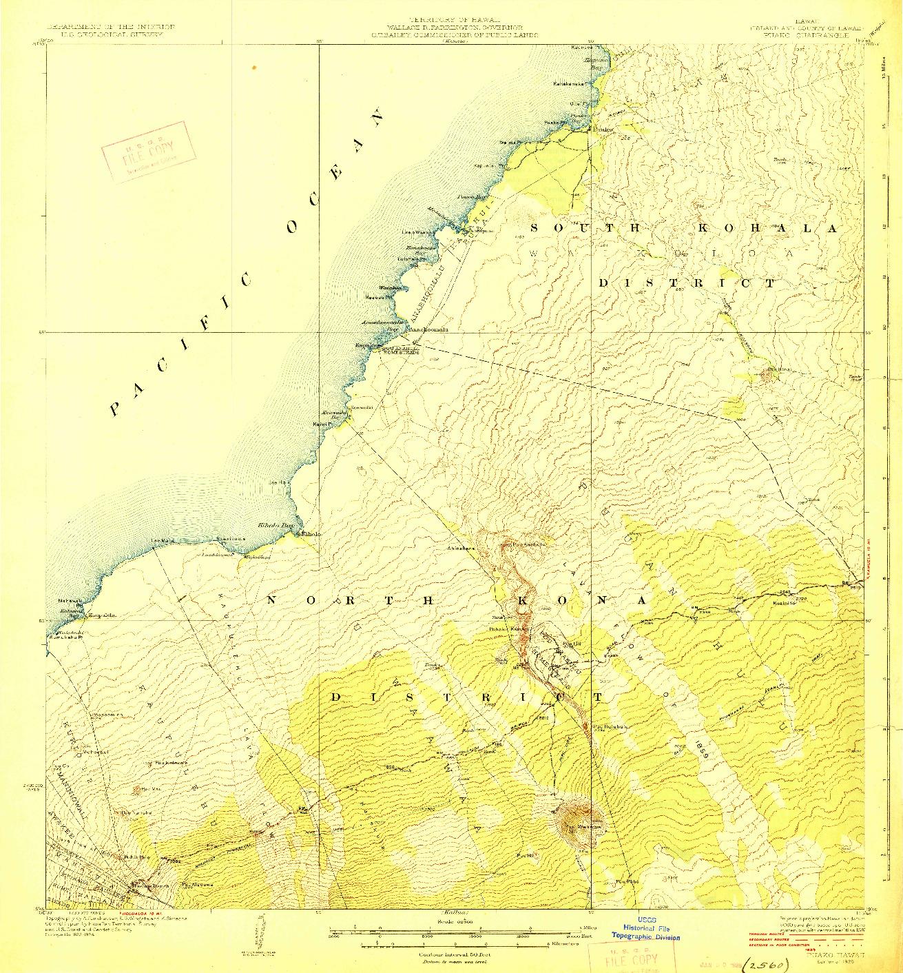 USGS 1:62500-SCALE QUADRANGLE FOR PUAKO, HI 1928