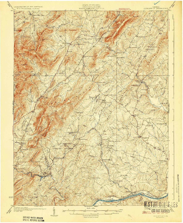 USGS 1:62500-SCALE QUADRANGLE FOR COVESVILLE, VA 1929