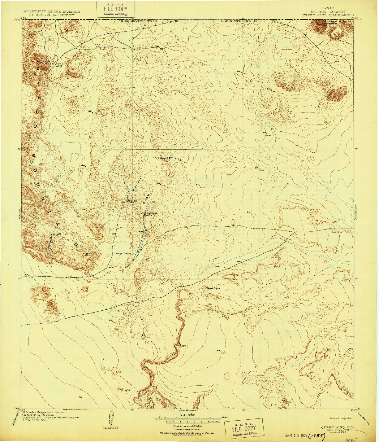 USGS 1:125000-SCALE QUADRANGLE FOR CERRO ALTO, TX 1903