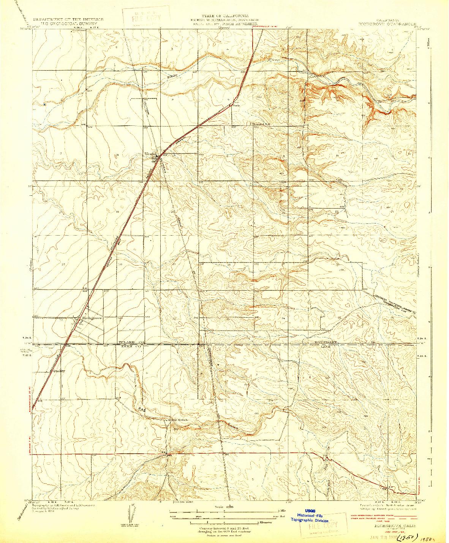 USGS 1:31680-SCALE QUADRANGLE FOR RICHGROVE, CA 1929