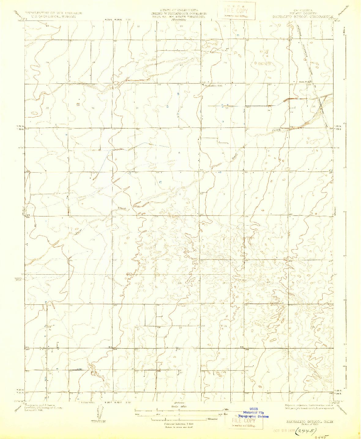 USGS 1:31680-SCALE QUADRANGLE FOR SAUSALITO SCHOOL, CA 1929