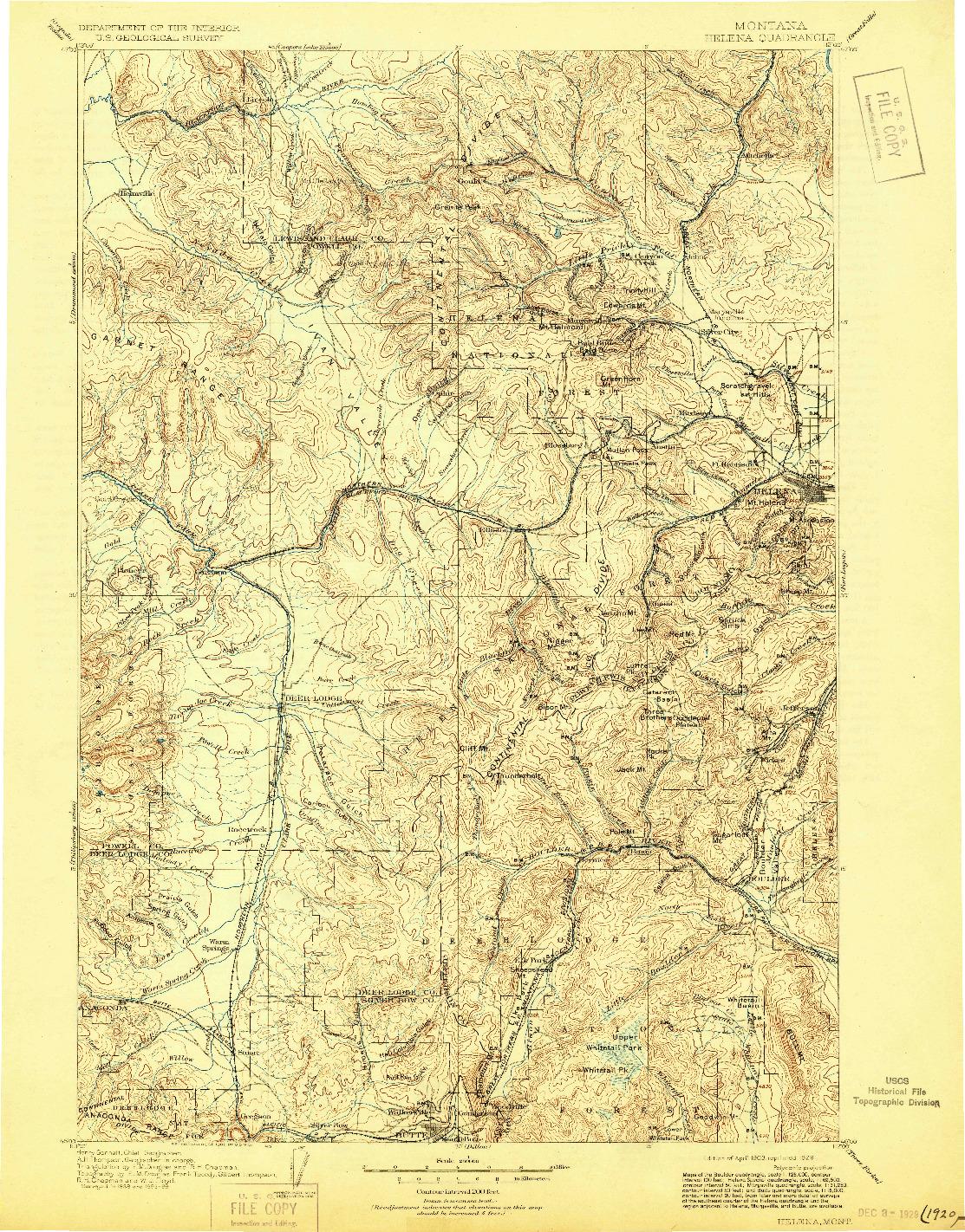 USGS 1:250000-SCALE QUADRANGLE FOR HELENA, MT 1903