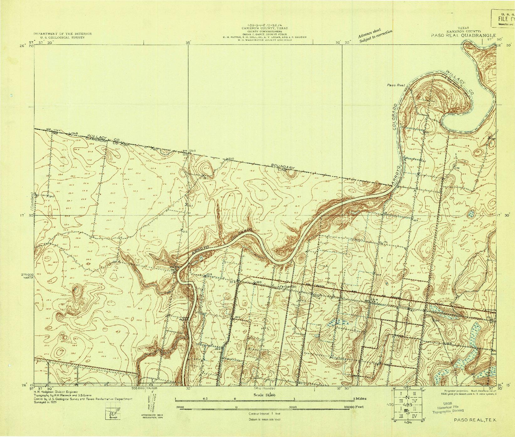 USGS 1:24000-SCALE QUADRANGLE FOR PASO REAL, TX 1929