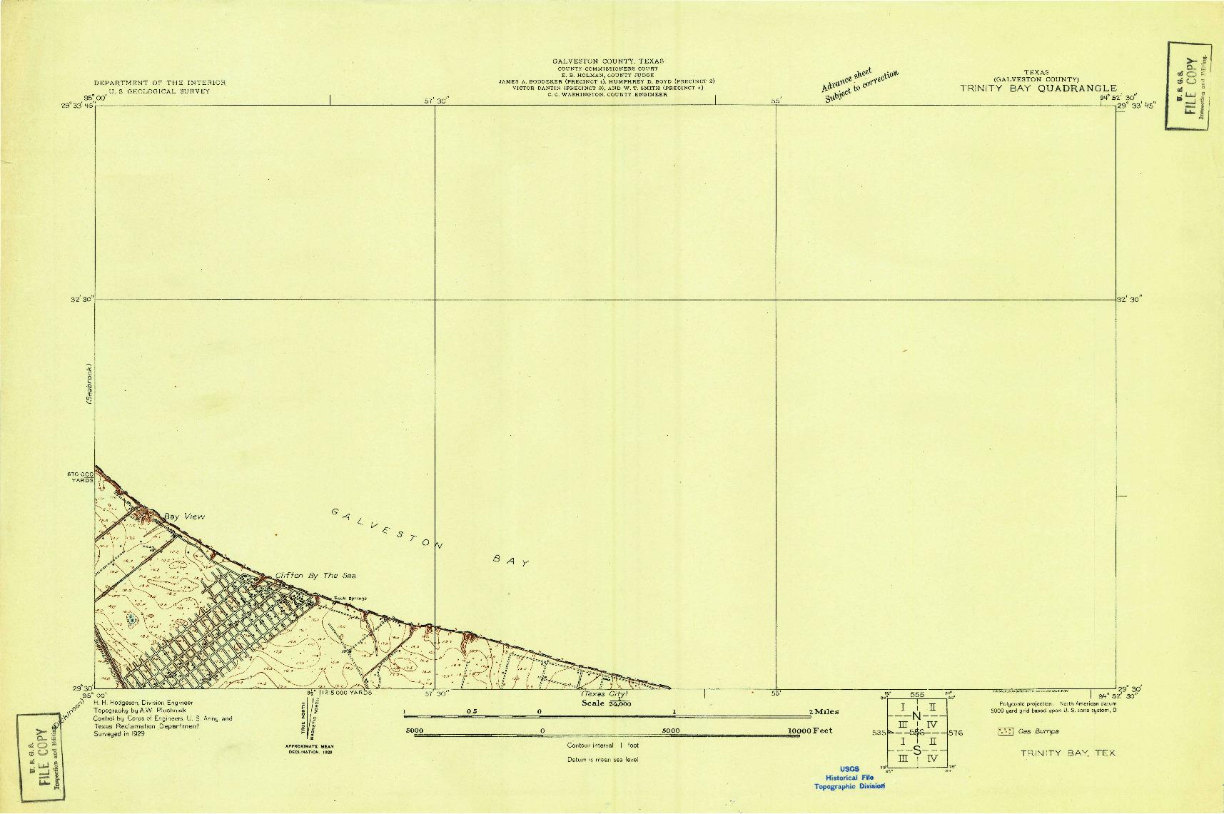 USGS 1:24000-SCALE QUADRANGLE FOR TRINITY BAY, TX 1929