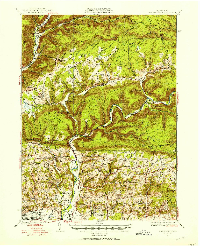 USGS 1:62500-SCALE QUADRANGLE FOR WARRENSVILLE, PA 1930