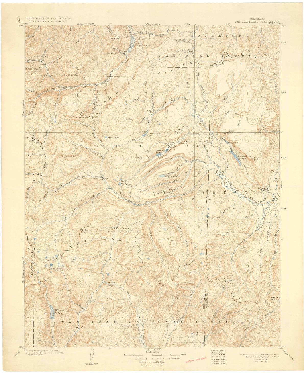 USGS 1:125000-SCALE QUADRANGLE FOR SAN CRISTOBAL, CO 1907