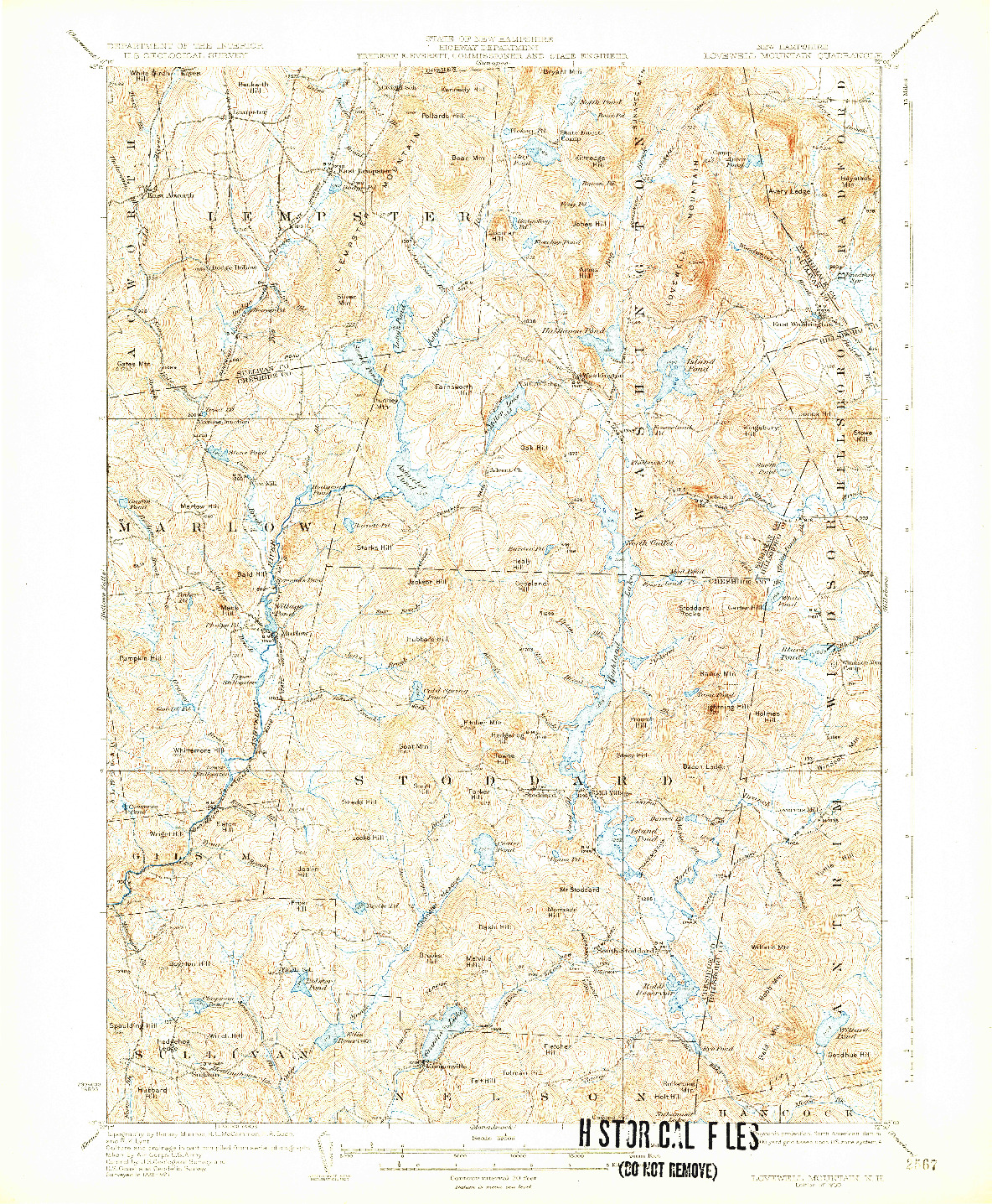 USGS 1:62500-SCALE QUADRANGLE FOR LOVEWELL MOUNTAIN, NH 1930