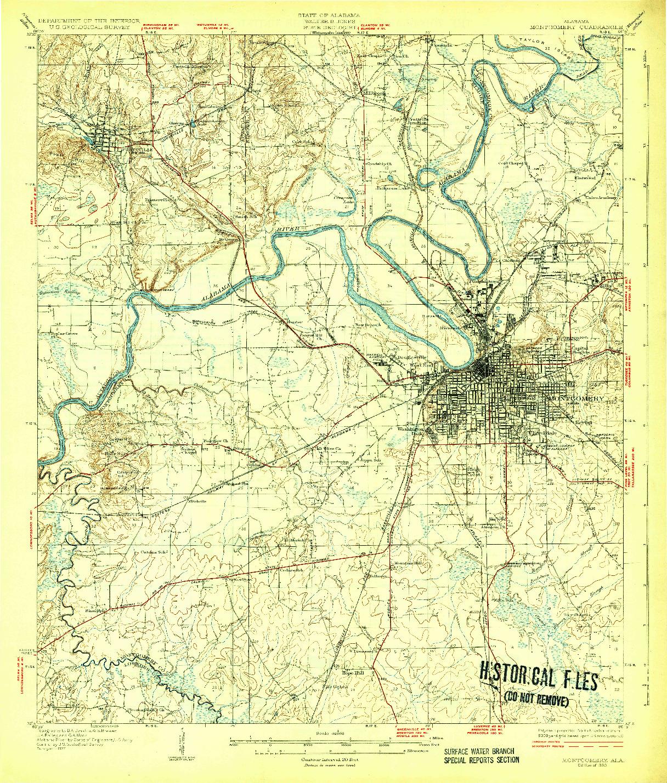 USGS 1:62500-SCALE QUADRANGLE FOR MONTGOMERY, AL 1930
