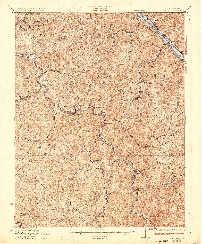 USGS 1:62500-SCALE QUADRANGLE FOR PEYTONA, WV 1931
