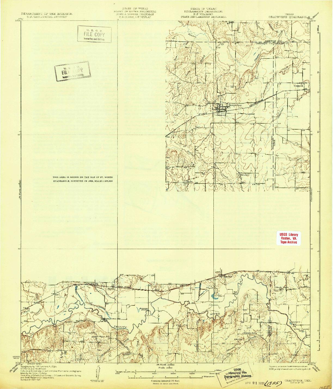 USGS 1:62500-SCALE QUADRANGLE FOR GRAPEVINE, TX 1931