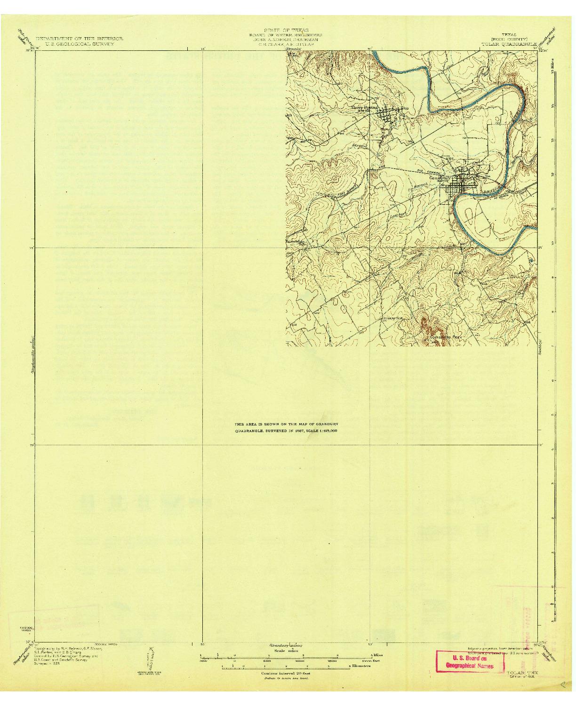 USGS 1:62500-SCALE QUADRANGLE FOR TOLAR, TX 1931