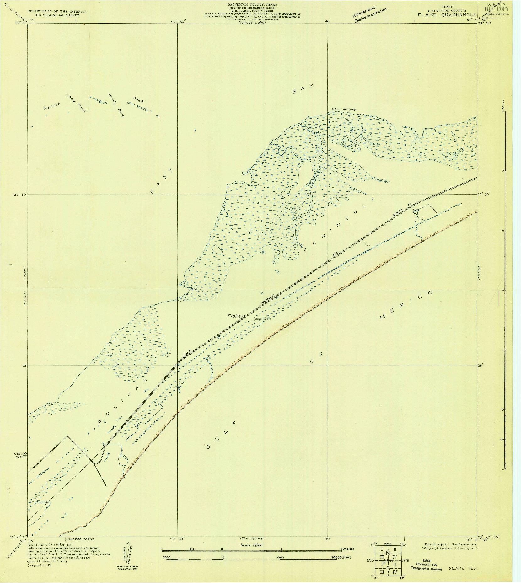 USGS 1:24000-SCALE QUADRANGLE FOR FLAKE, TX 1931