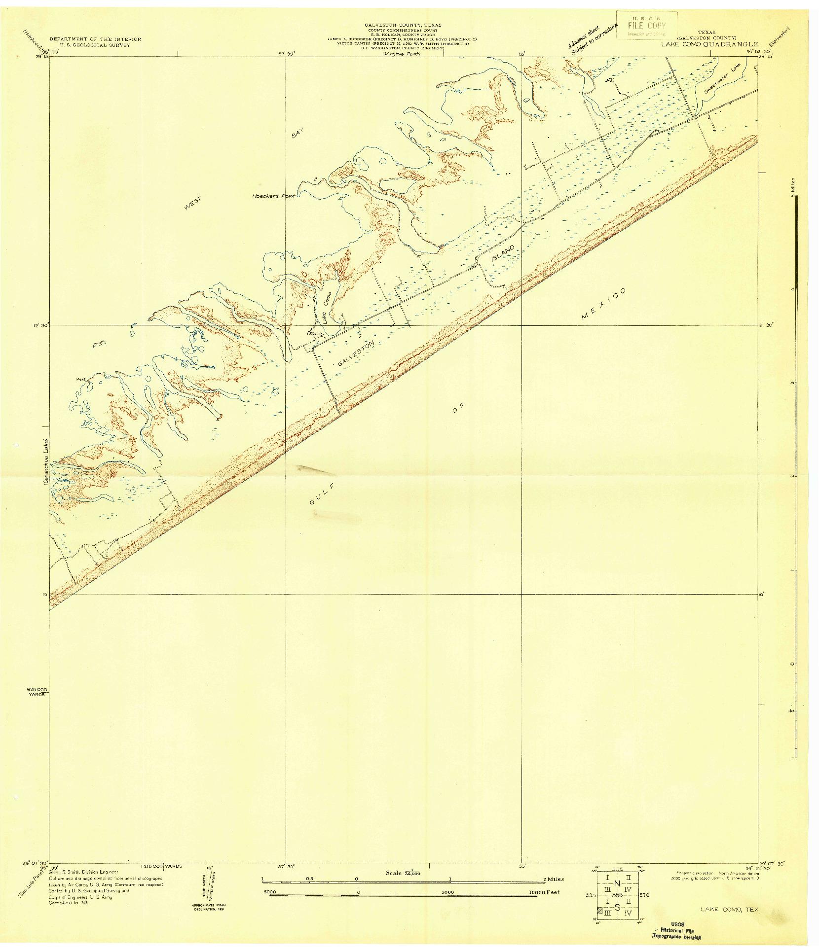 USGS 1:24000-SCALE QUADRANGLE FOR LAKE COMO, TX 1931