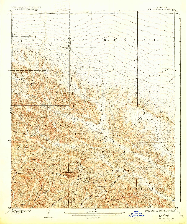 USGS 1:62500-SCALE QUADRANGLE FOR SAN ANTONIO, CA 1903