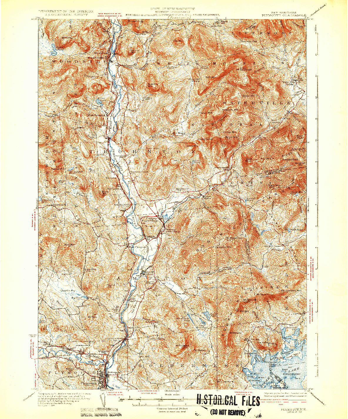 USGS 1:62500-SCALE QUADRANGLE FOR PLYMOUTH, NH 1931