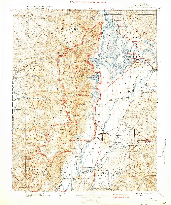 USGS 1:125000-SCALE QUADRANGLE FOR GRAND TETON, WY 1901