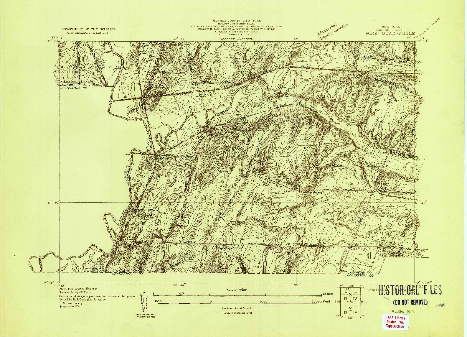 USGS 1:24000-SCALE QUADRANGLE FOR RUSH, NY 1931