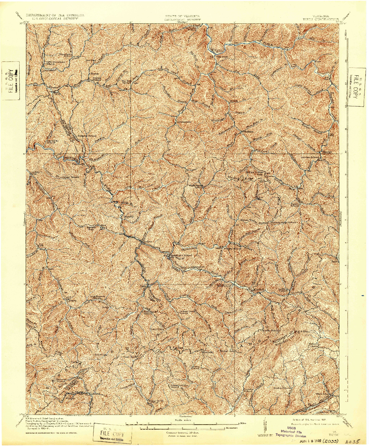 USGS 1:62500-SCALE QUADRANGLE FOR BUCU, VA 1916