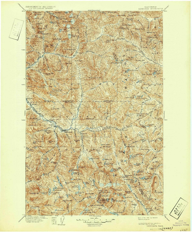 USGS 1:125000-SCALE QUADRANGLE FOR SKYKOMISH, WA 1905