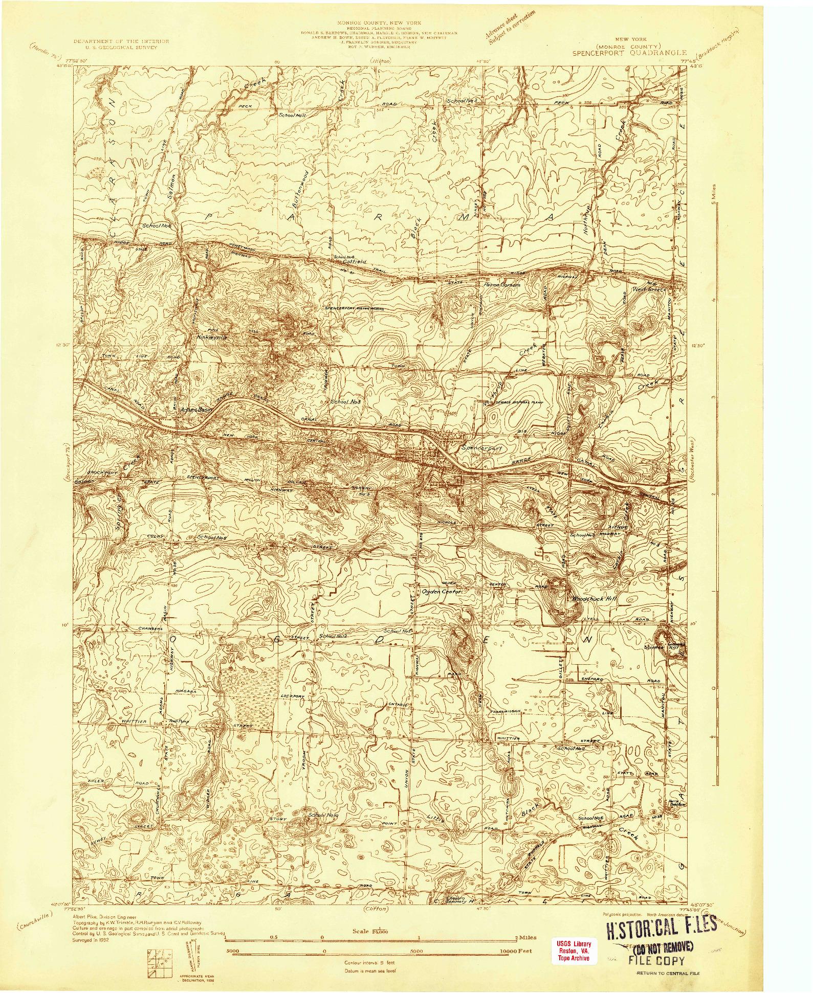 USGS 1:24000-SCALE QUADRANGLE FOR SPENCERPORT, NY 1932