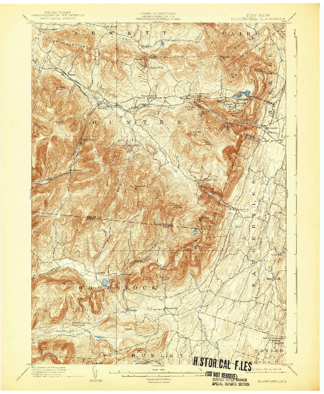 USGS 1:62500-SCALE QUADRANGLE FOR KAATERSKILL, NY 1903