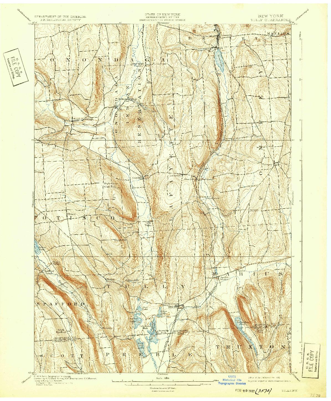 USGS 1:62500-SCALE QUADRANGLE FOR TULLY, NY 1900