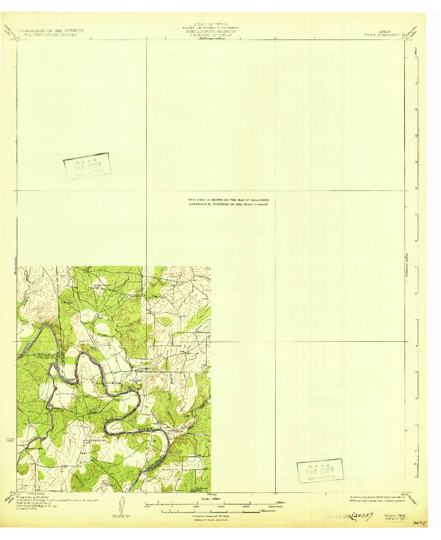 USGS 1:62500-SCALE QUADRANGLE FOR VOSS, TX 1932