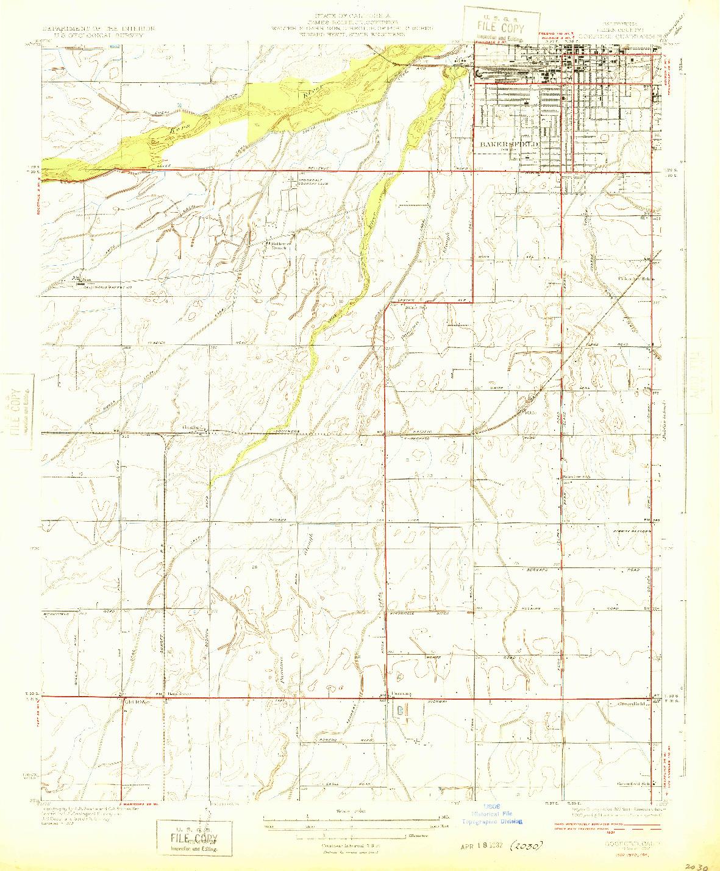 USGS 1:31680-SCALE QUADRANGLE FOR GOSFORD, CA 1932
