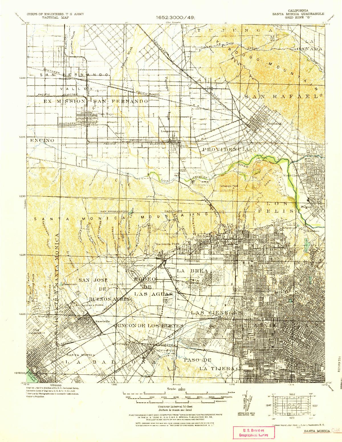 USGS 1:62500-SCALE QUADRANGLE FOR SANTA MONICA, CA 1921