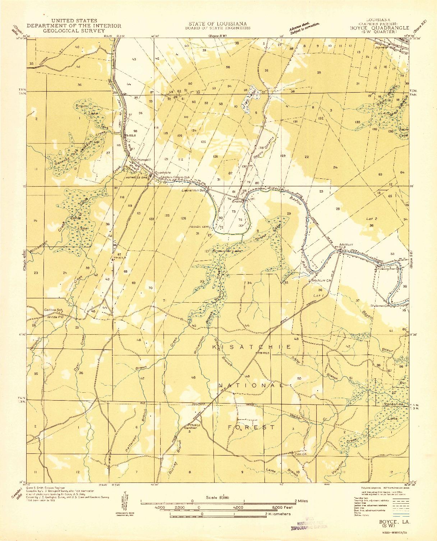 USGS 1:31680-SCALE QUADRANGLE FOR BOYCE SW, LA 1932