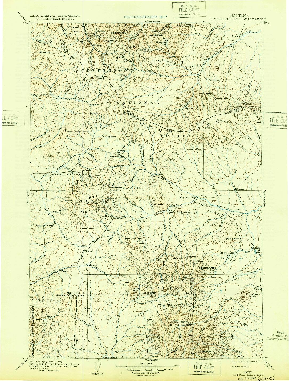 USGS 1:250000-SCALE QUADRANGLE FOR LITTLE BELT MTS., MT 1902