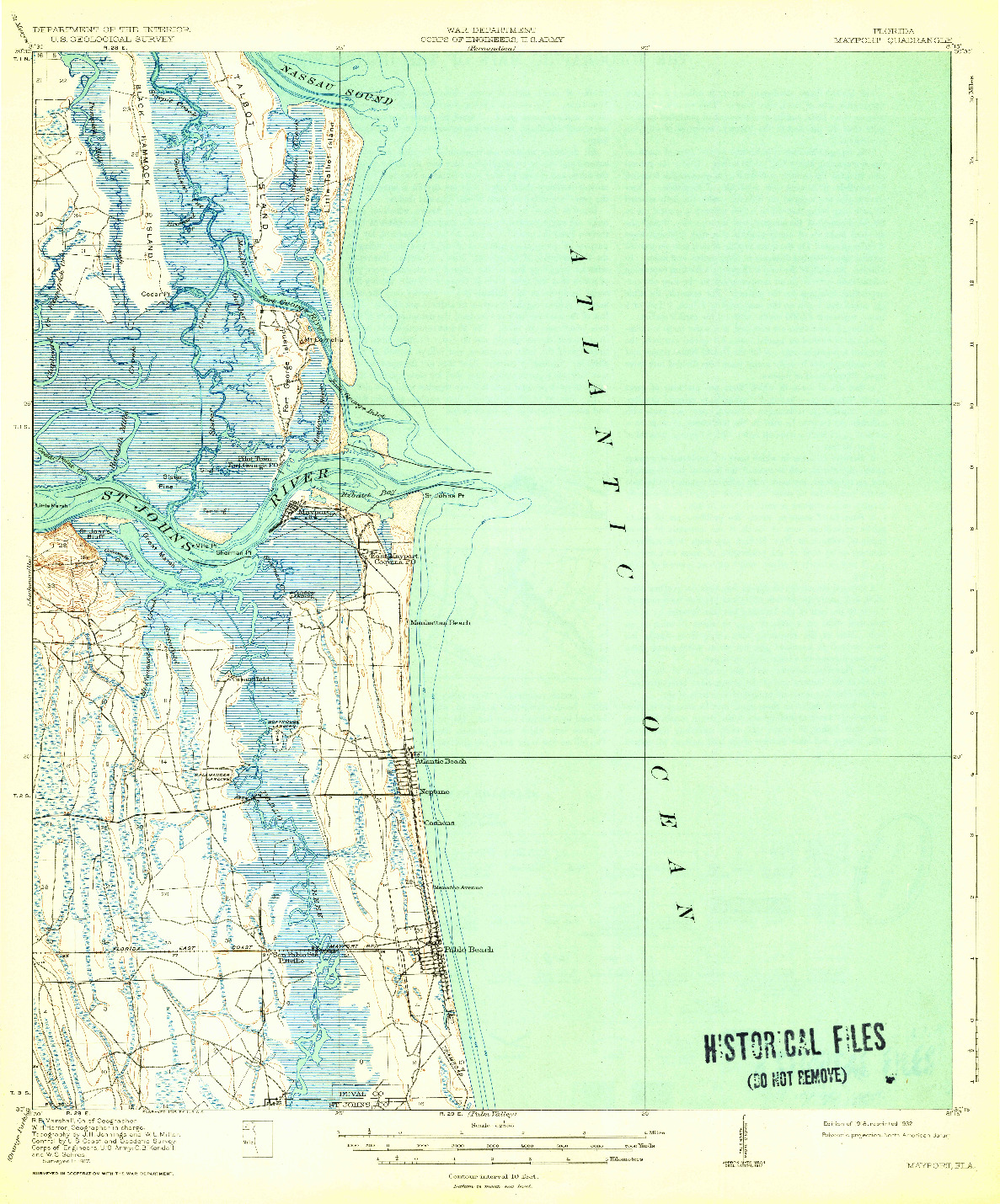 USGS 1:62500-SCALE QUADRANGLE FOR MAYPORT, FL 1918